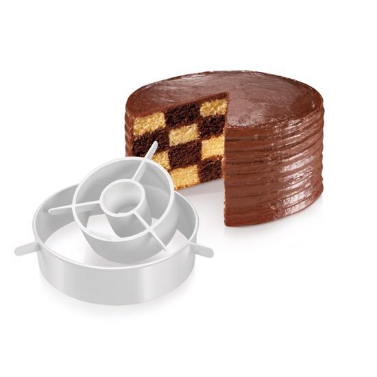 Lagkagedeler til skakternet kage eller regnbuefarvet kage