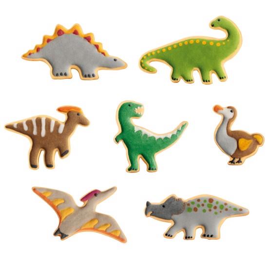 Udstikkersæt med 7 forskellige dinosaurer