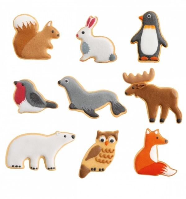 Udstikker sæt med 9 forskellige vilde dyr