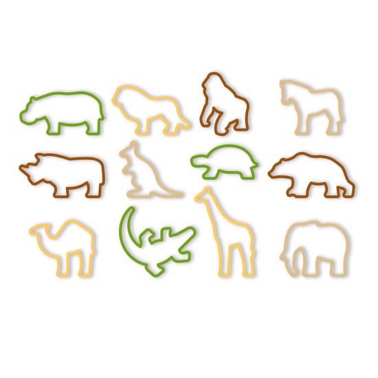 Udstikker forme med 12 forskellige vilde dyr