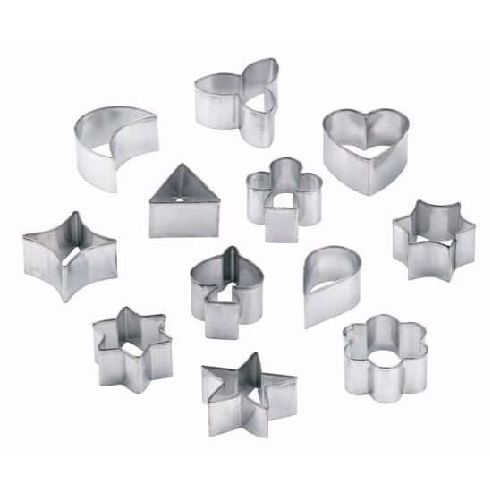 Udstikker sæt i metal med 12 forskellige motiver