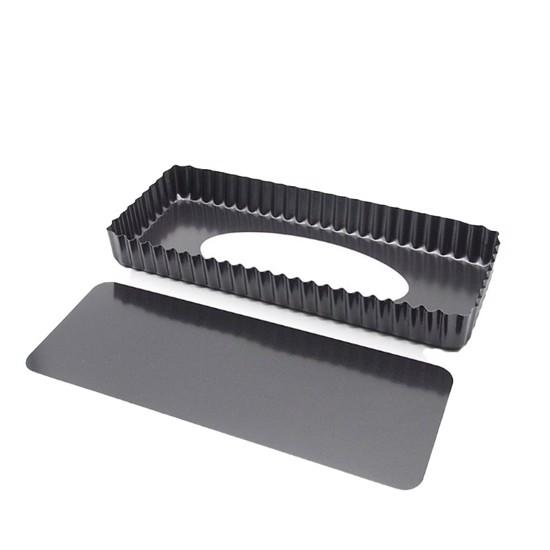 Tærteform – aflang 35 x 12 cm med løs bund og non-stick belægning