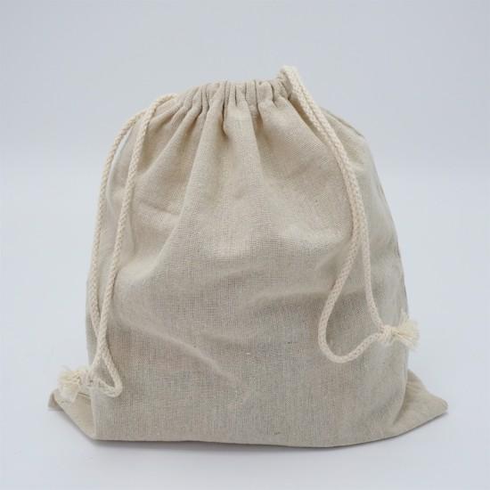 Brødpose i ubleget hør til opbevaring af brød