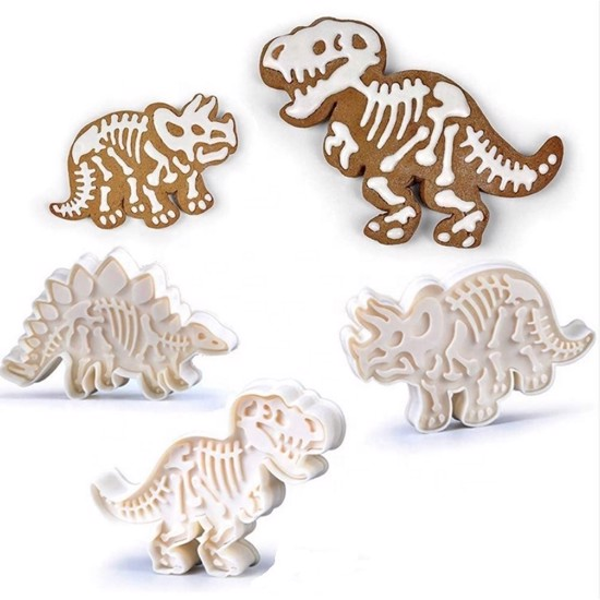 Udstikkersæt med 3 forskellige dinosaurer fossiler